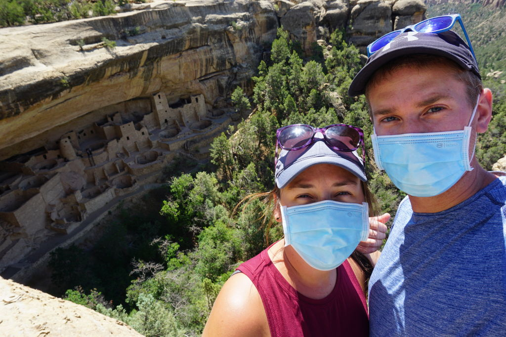 Cliff dwellings at Mesa Verde, Colorado during COVID times.