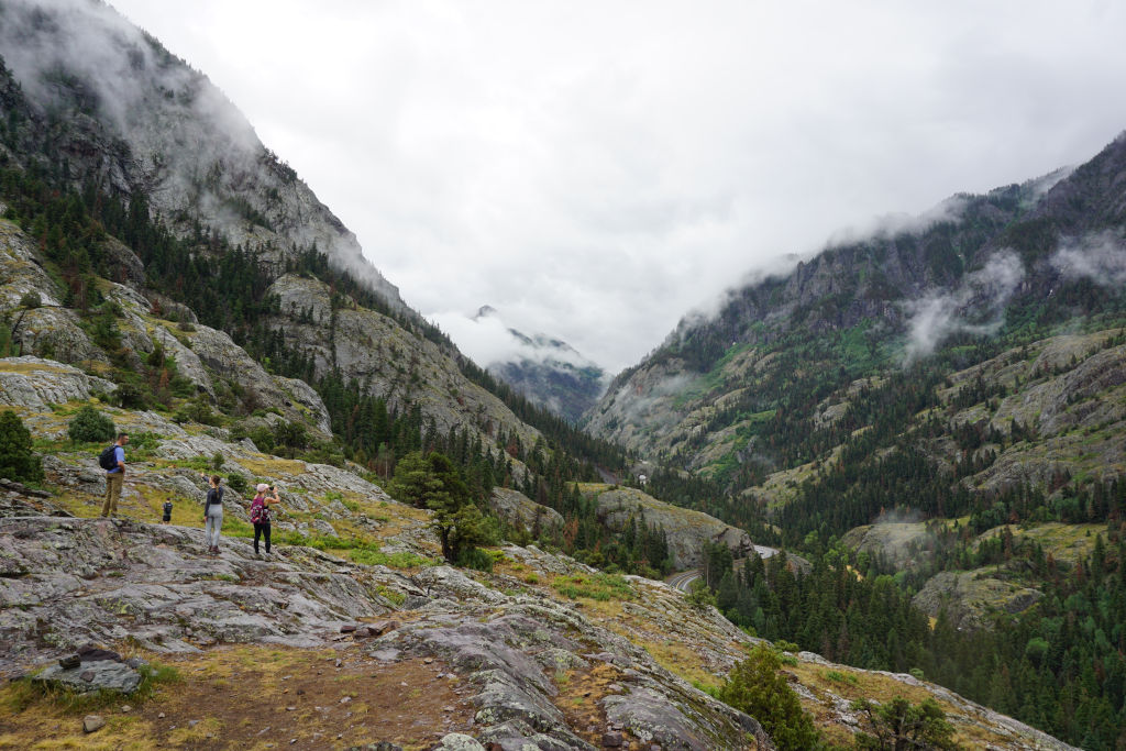 Hiking the Perimeter Trail in Ouray, Colorado.