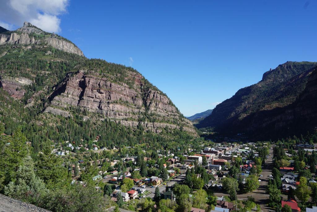 View of Ouray, Colorado.