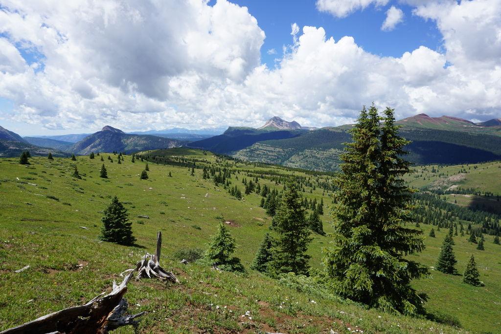 View hiking near Molas Pass along the Colorado Trail.