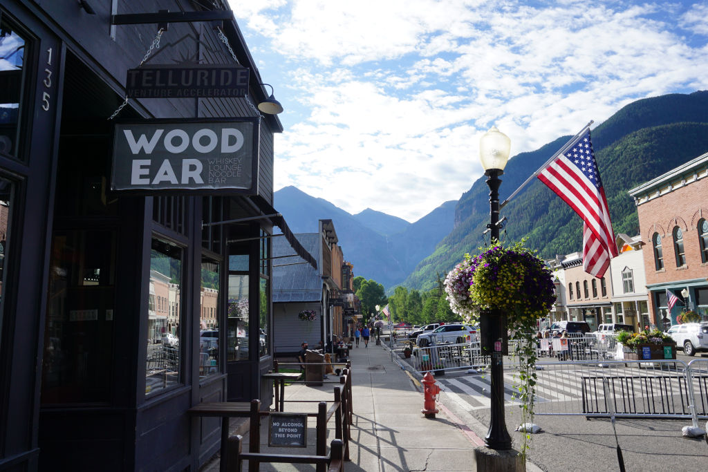 Walking downtown Telluride during COVID