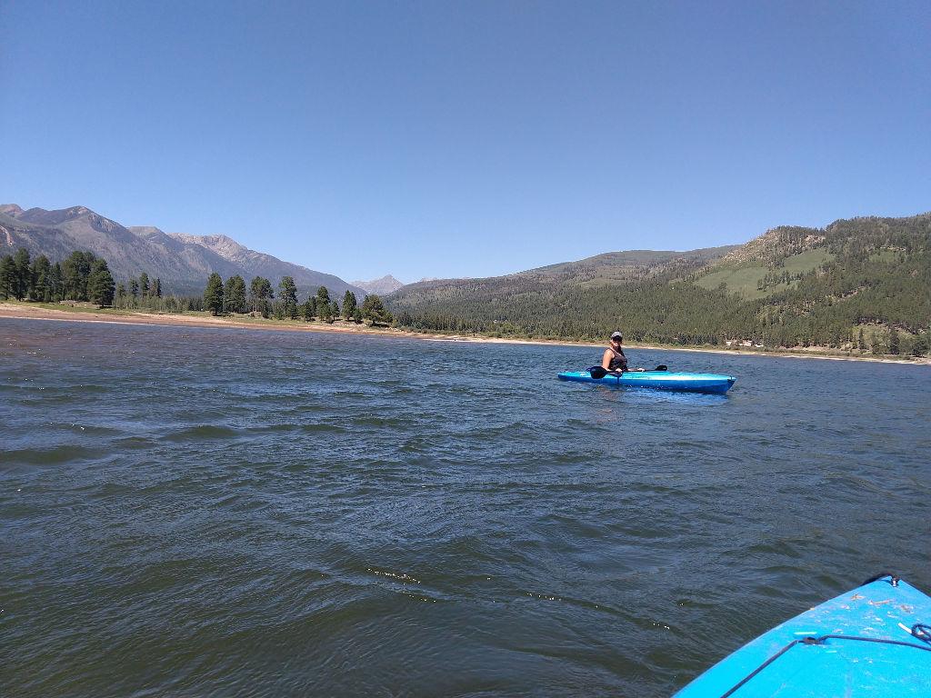 Kayaking in Vallecito Lake.